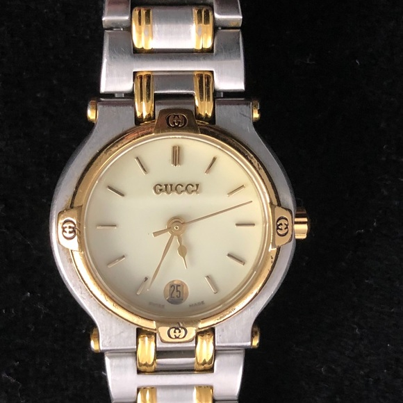 3726356f25c Gucci Accessories - Gucci Ladies 9000L SS 14k Two Tone Watch